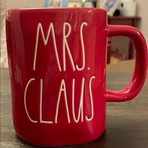 Rae Dunn Mrs Claus Red Mug 2019